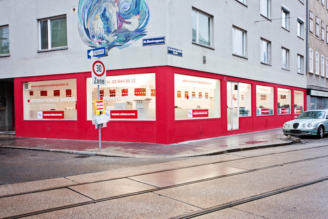 Wiener Möbelpacker Umzug - Büro Aussenansicht.