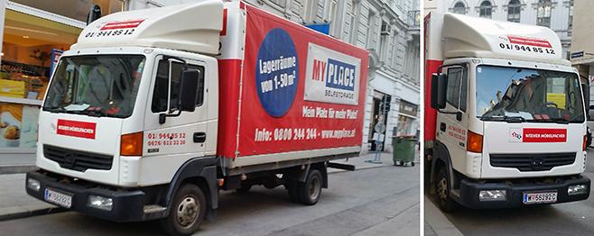 Nissan LKW für Übersiedlung in Wien